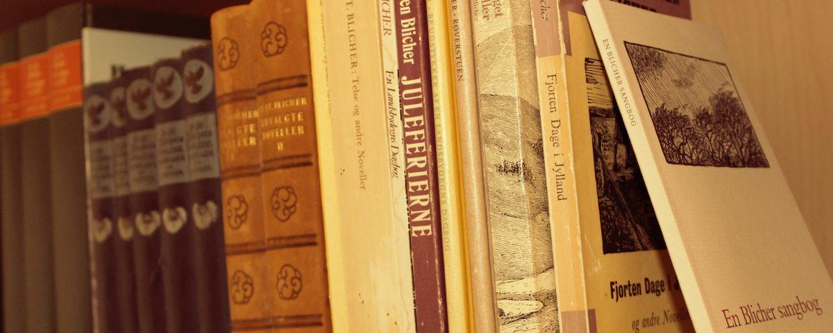 Foto af Blicher-bøger